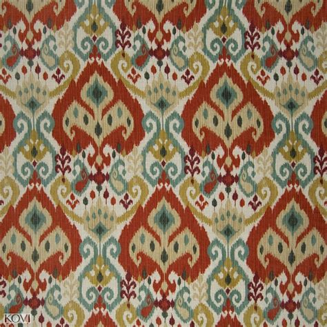 moroccan upholstery fabric moroccan orange ikat cotton upholstery fabric