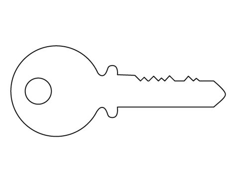 printable house key template key pattern use the printable outline for crafts