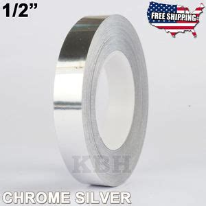 Vinyl Lantai 12mm Roll 081296253328 1 2 quot roll vinyl pinstriping pinstripe soild line sticker 12mm chrome silver ebay
