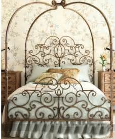 Iron Canopy Bed Frame King Ornate Style Canopy Poster Iron Bed End