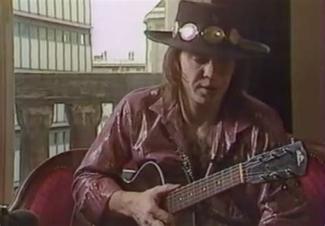 early footage  stevie ray vaughan playing solo acoustic guitar   video