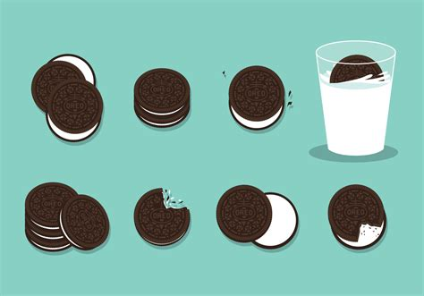 oreo pattern vector free oreo cookies vector download free vector art stock