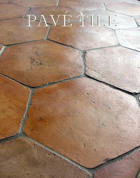 Farmhouse Floors Farmhouse Proven 231 Al Tomette Terra Cotta Tile Flooring Size 7 Quot Tomette Color Chamois Floor
