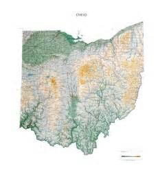 ohio to map ohio wall map a spectacular physical map of ohio