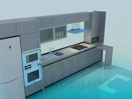 3d model kitchen set 3d model kitchen set download for free