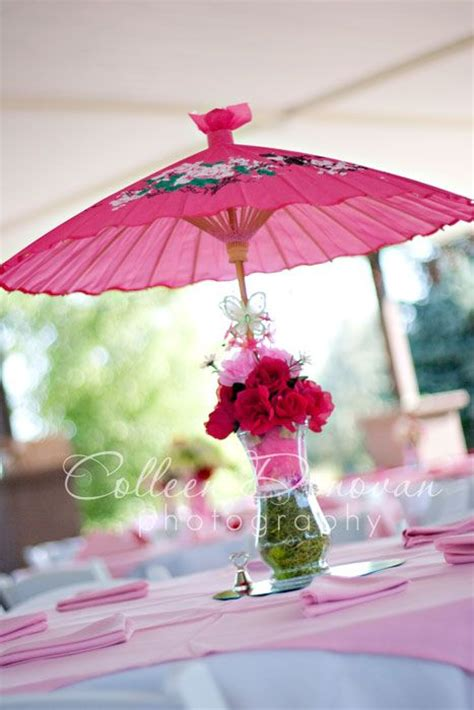 Umbrella Centerpieces Doing It Amber S Brunch Baby Shower Umbrella Centerpieces