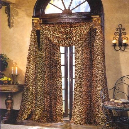 leopard curtains window treatments 5 leopard curtain styles design ideas
