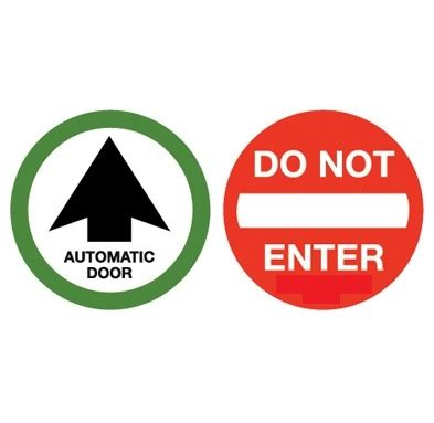 Automatic Sweepstakes Entry - quot automatic door quot quot do not enter quot double sided decal