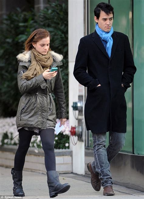 emma watson engaged emma watson only has eyes for her mobile phone as she