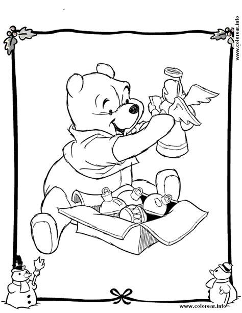 pooh con adornos navidad pooh bear printable coloring