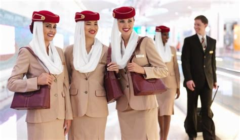 flight attendant emirates airline and different countries