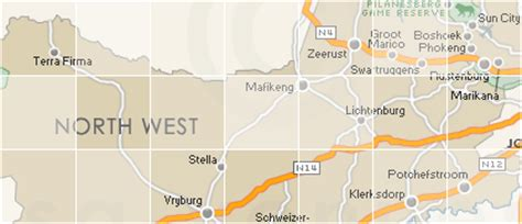 search  map  north west province  town suburb