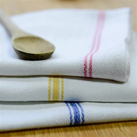 kitchen dish towels 100 cotton vintage stripe 6 pack size 18 pack tea towels includes 6 each blue stripe gold