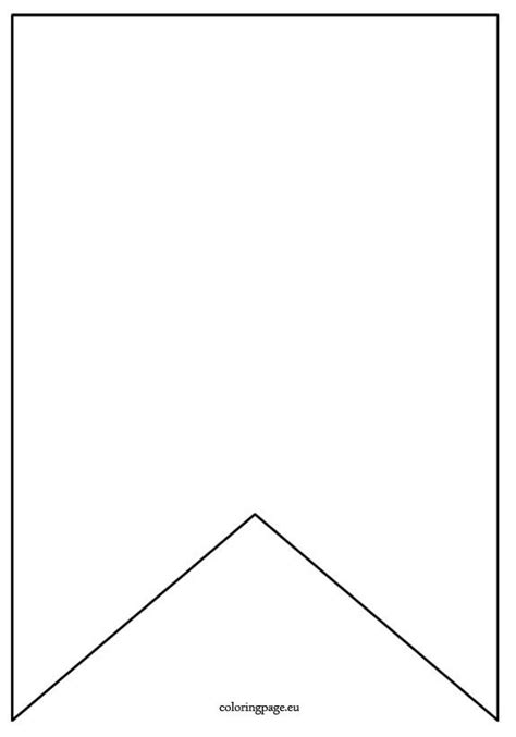 Pennant Coloring Page 25 best ideas about pennant banner template on