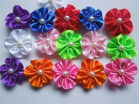 Silk Fabric Flowers Handmade - popular pattern fabric flowers aliexpress