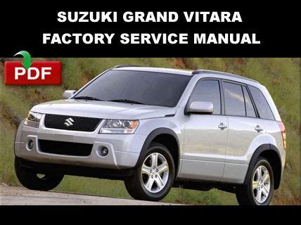 car repair manual download 2009 suzuki grand vitara lane departure warning suzuki grand vitara 2006 2009 ultimate factory service repair workshop manual service