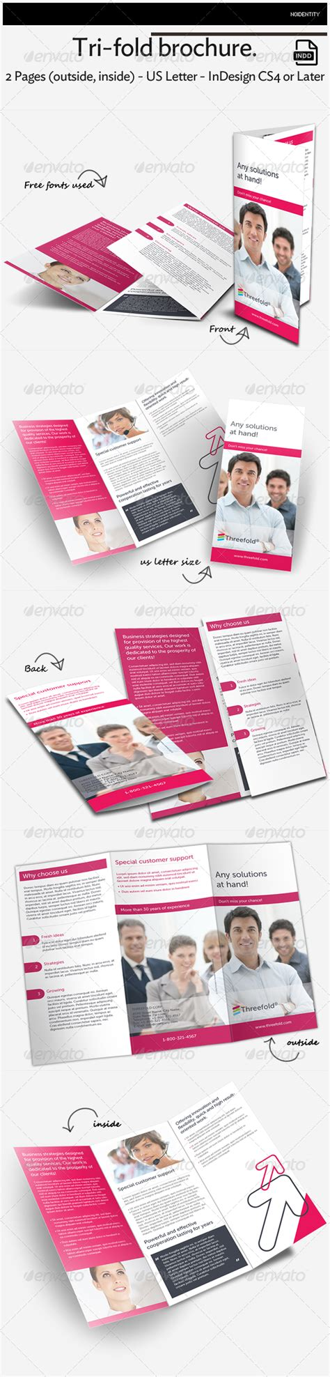 tri fold brochure template indesign cs6 multipurpose tri fold brochure graphicriver