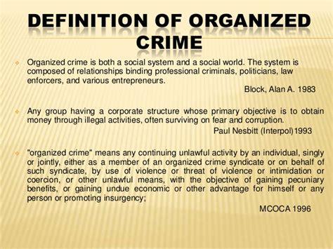 organized crime organized crime