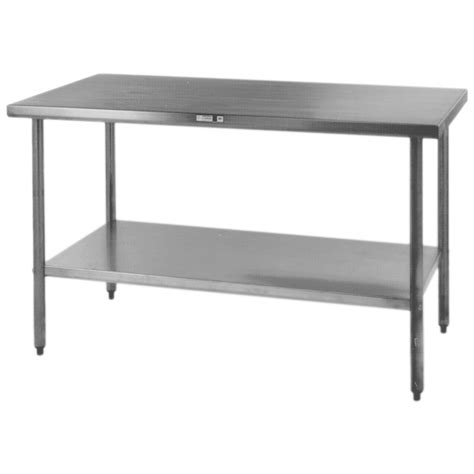 stainless steel kitchen table stainless steel prep table stainless steel tables with shelves