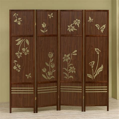room dividers shoji 4 panel room dividers wooden floral butterflies folding screen carved out ebay