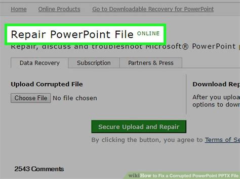 fix your corrupted powerpoint presentation file in few clicks 5 ways to fix a corrupted powerpoint pptx file wikihow