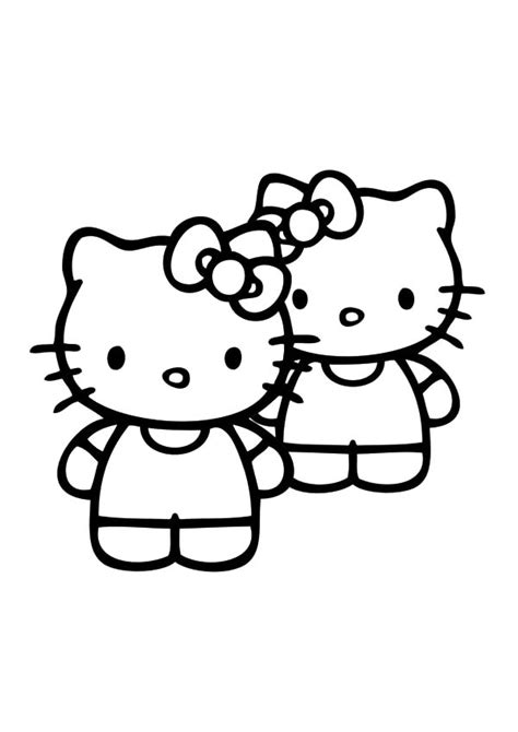 best friends hello kitty coloring pages best friends