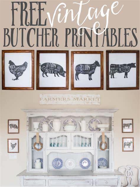 farmhouse decor printables free kitchen printables farm animal butcher prints farm