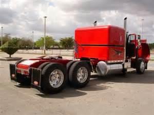 Semi Truck Accessories Miami 1986 Peterbilt 359 Exhd Semi Truck Flat Top Sleeper Ebay