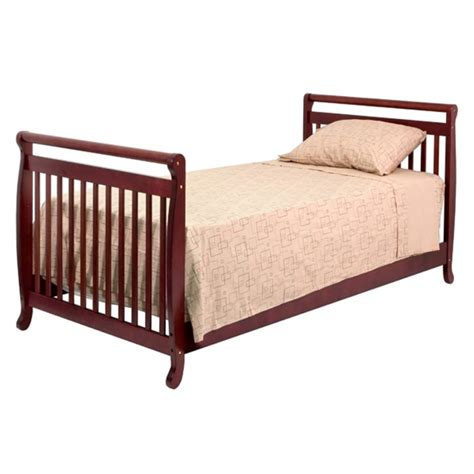 Da Vinci Emily Mini Crib Davinci Emily Mini 2 In 1 Convertible Wood Baby Crib In Cherry M4798c