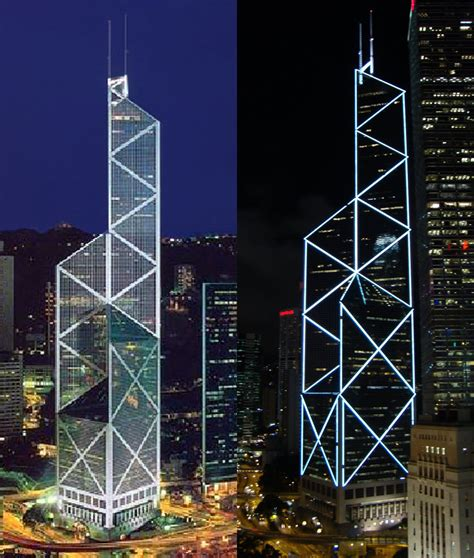 hk china bank illuminating hong kong s bank of china tower 187 china