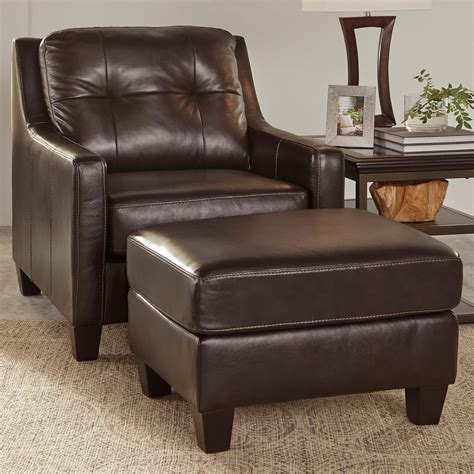 ashley leather chair and ottoman signature design by ashley o kean contemporary leather