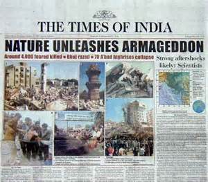 Newspaper Report Writing On Earthquake In Gujarat by Special Report April 17 2001 Earthquake Coverage By The Times Of India