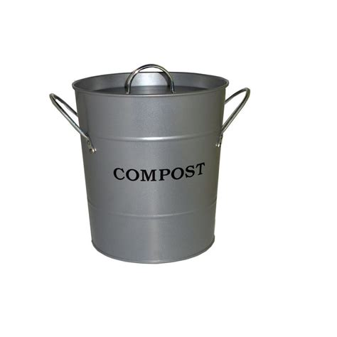 exaco 2 in 1 silver lid with rubber seal compost