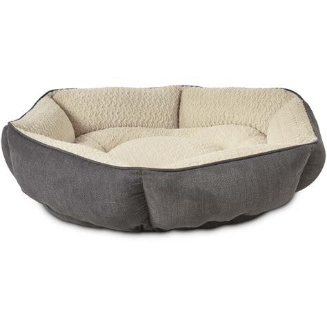 petco beds petco tranquil cuddler memory foam dog bed in grey petco