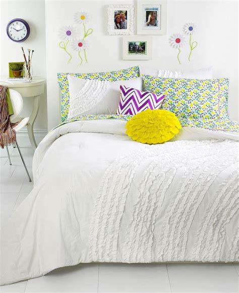 macys teen bedding teen vogue bedding ella ruffle comforter from macys