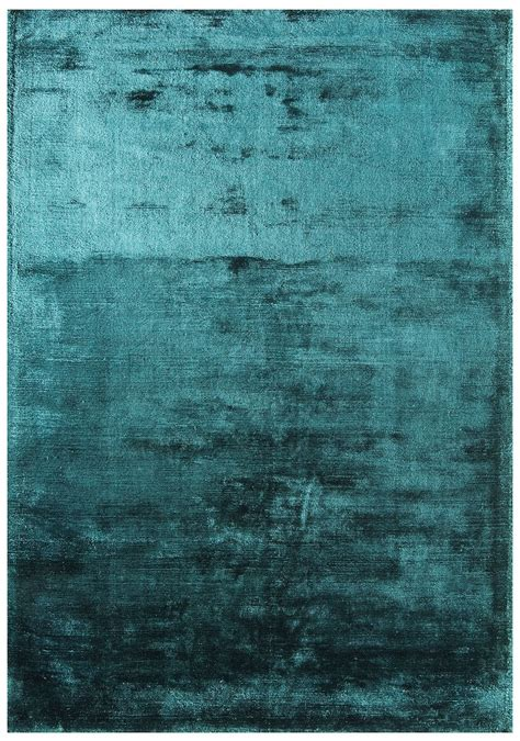 Dolce Plain Viscose Rug  Teal