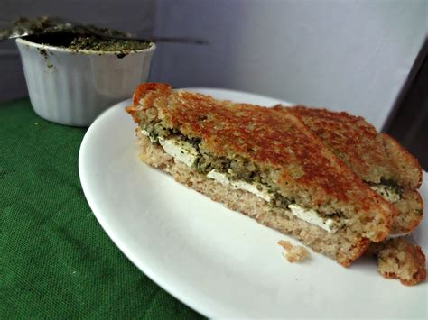 Link Mozzarella And Pesto Grilled Cheese by The Cooking Mozzarella And Pesto Grilled Cheese