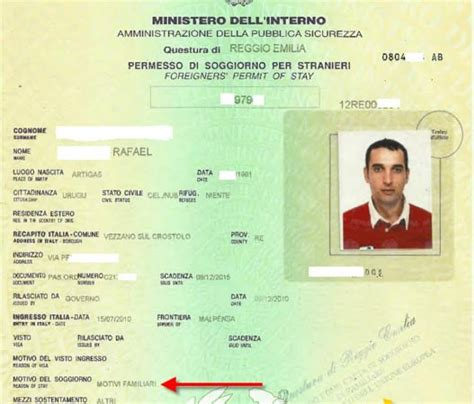 primo permesso di soggiorno per motivi familiari uruguayano sposa un italiano ottiene permesso di