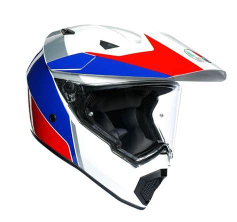 agv ax  multi atlante motosiklet kaski beyaz mavi kirmizi