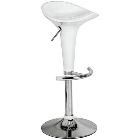 buy colourmatch white gas lift bar stool at argos co