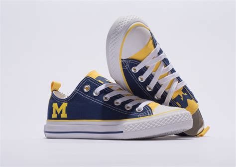 college themed shoes university of michigan student launches skicks