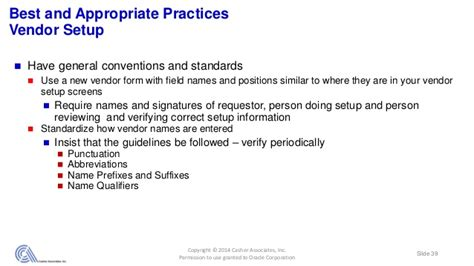vendor up letter how your vendor master file is critical to governance