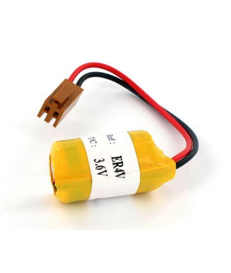 Toshiba Lithium Er4v 3 6v batterie 3 6v lithium typ toshiba er4v connector fanuc