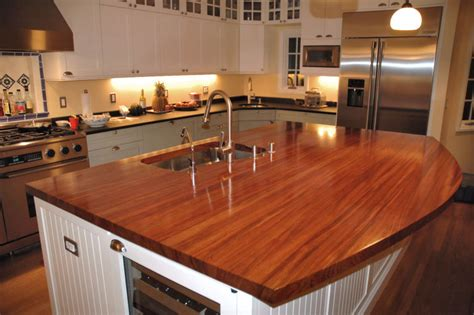 kitchen island wood countertop jatoba custom wood countertops butcher block