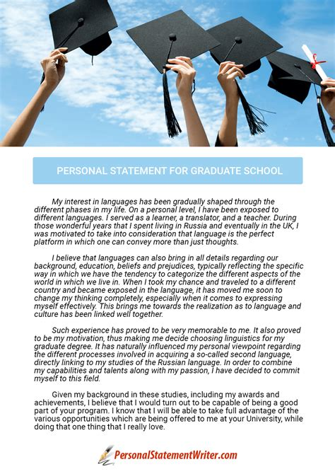 personal statement for school writing a personal statement for graduate school