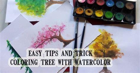 cara mewarnai pohon dengan watercolor mayagami cara mewarnai pohon dengan watercolor mayagami