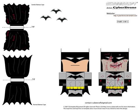 Papercraft Batman - cubee batman 2of2 by cyberdrone on deviantart