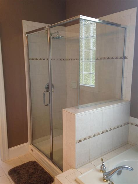 carolina shower door semi frameless shower doors raleigh nc shower glass