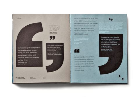 graphic design quote layout gdc rapport annuel foundry communications texts
