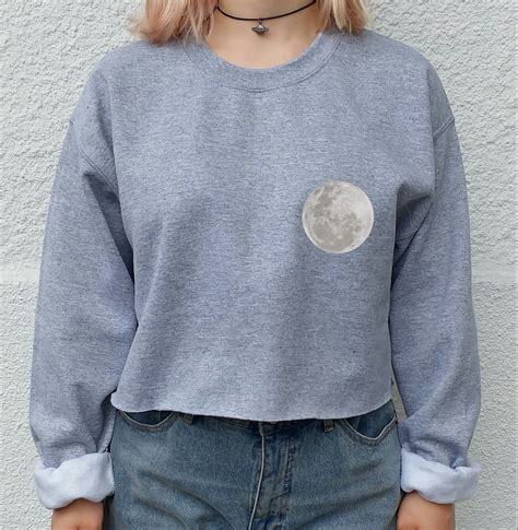 hoodie design tumblr moon lovers tumblr crop top sweater hipster shirt tumblr